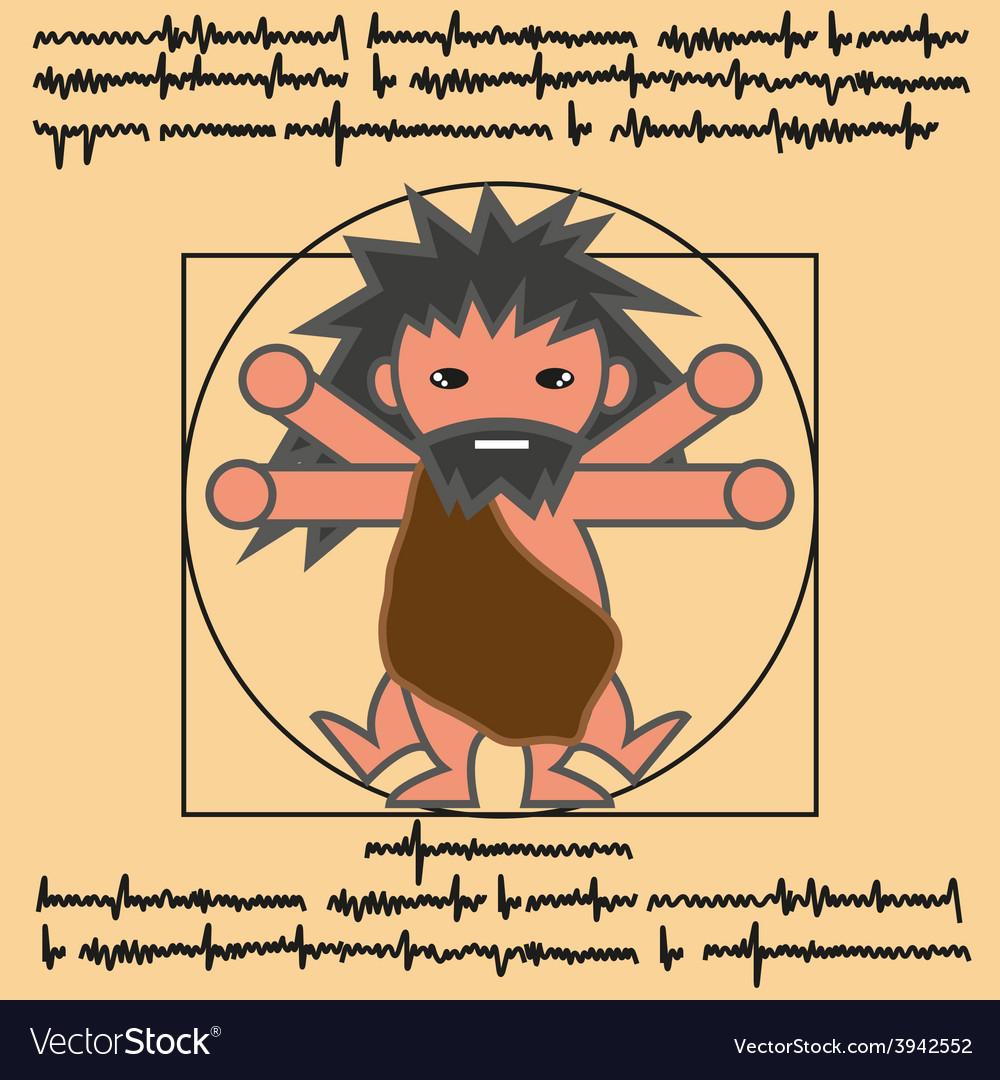 Vitruvian ancient man vector | Price: 1 Credit (USD $1)