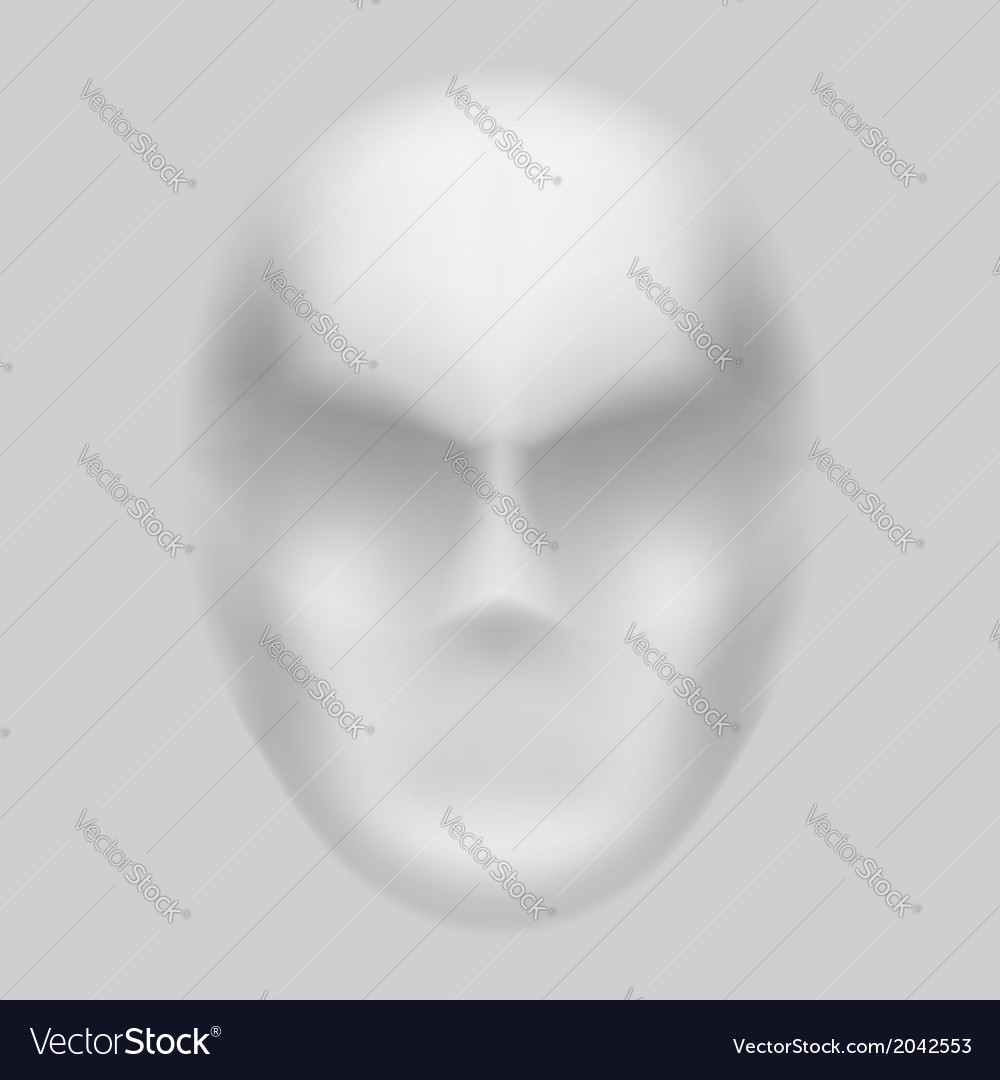 Blurry face vector | Price: 1 Credit (USD $1)