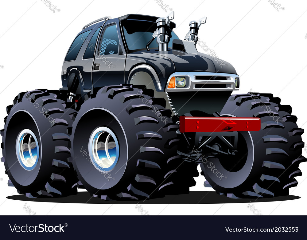 Cartoon monster truck vector   Price: 1 Credit (USD $1)