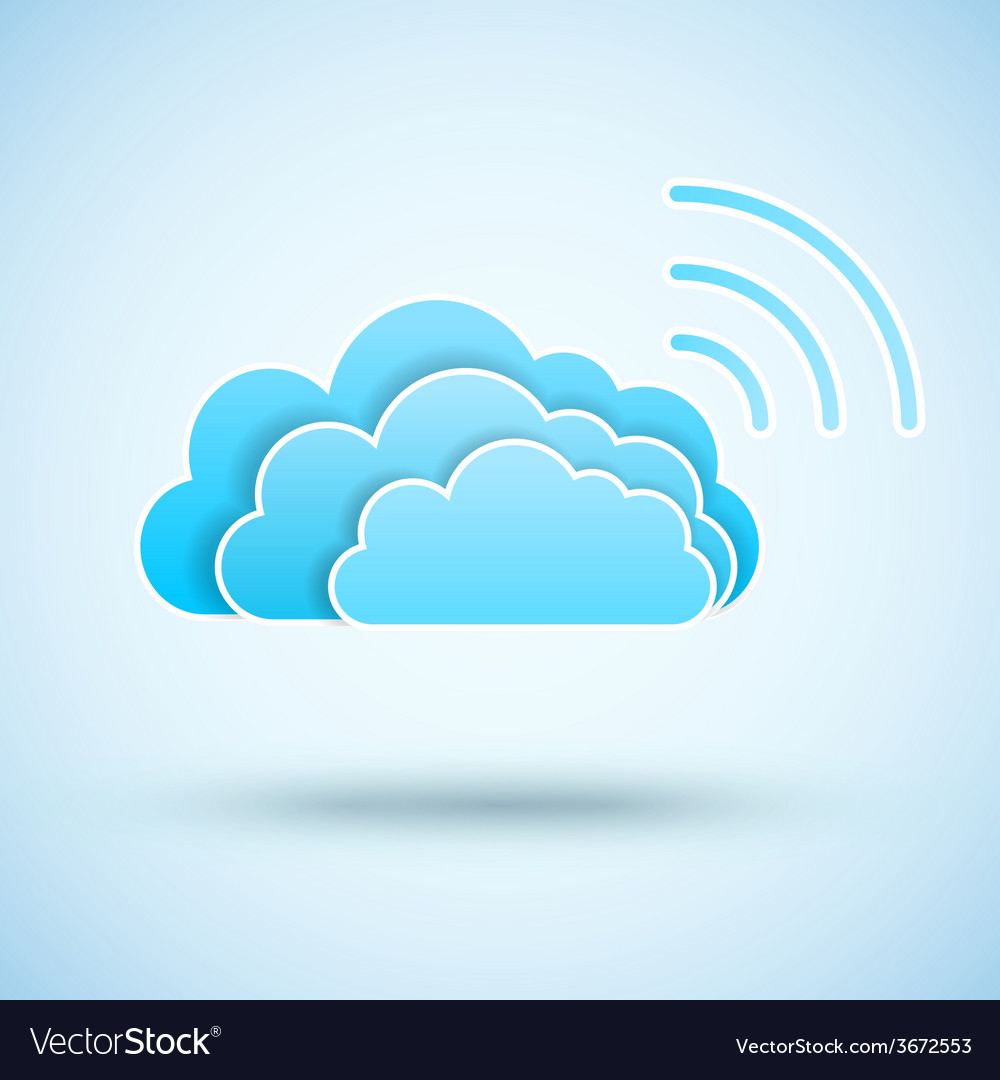 Cloud with wifi symbol vector | Price: 1 Credit (USD $1)