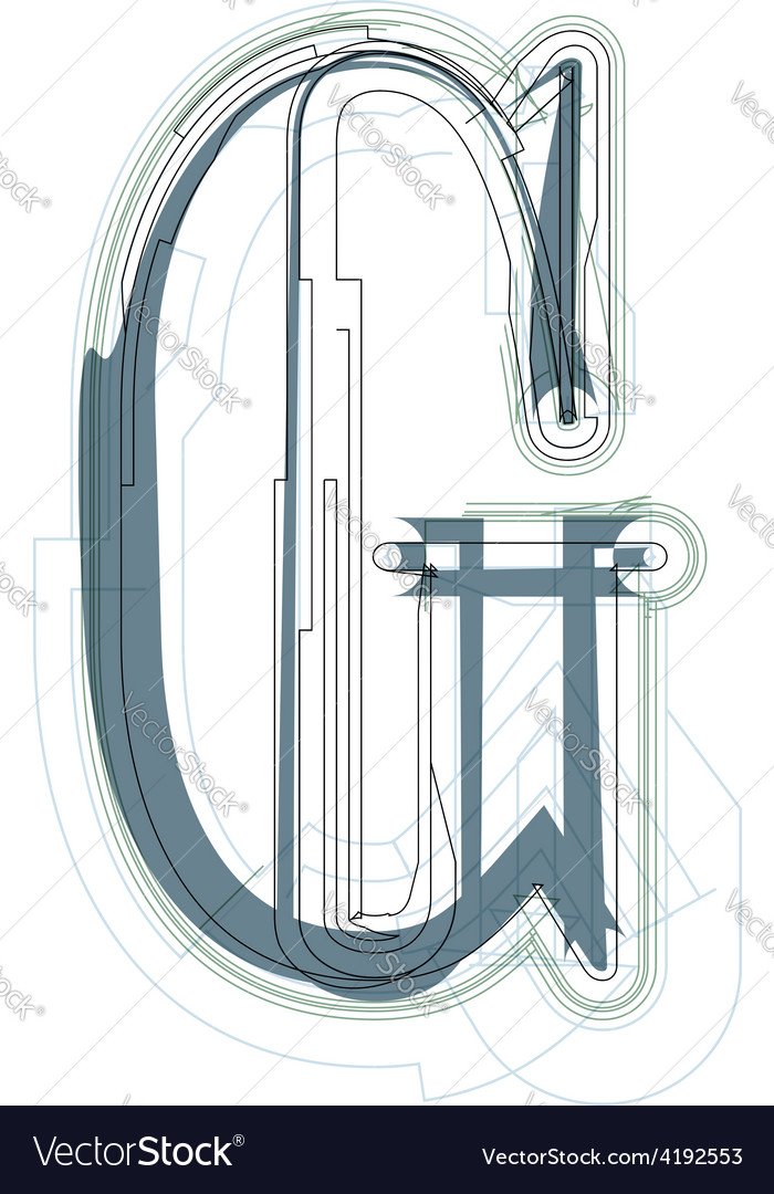 Font letter g vector | Price: 1 Credit (USD $1)