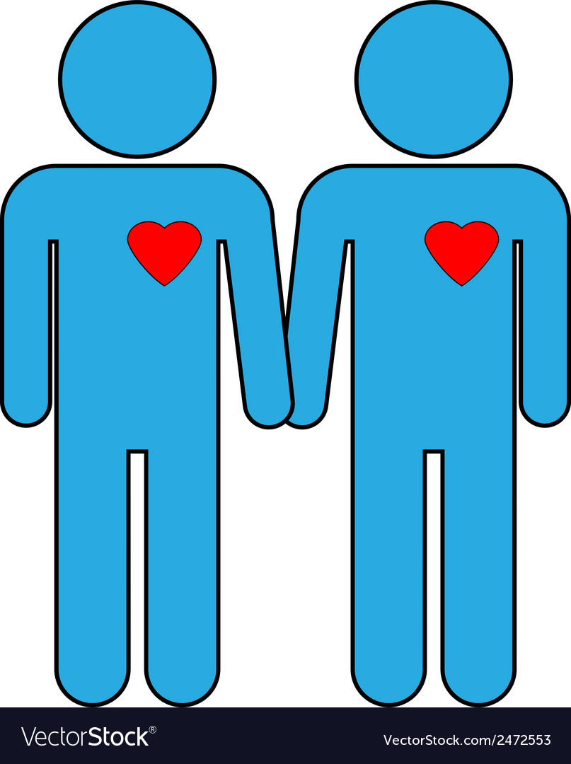 Gay couple symbol vector | Price: 1 Credit (USD $1)