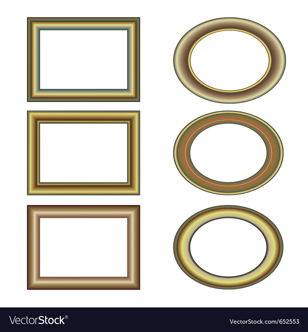 Gold bronze frame set pattern vector | Price: 1 Credit (USD $1)