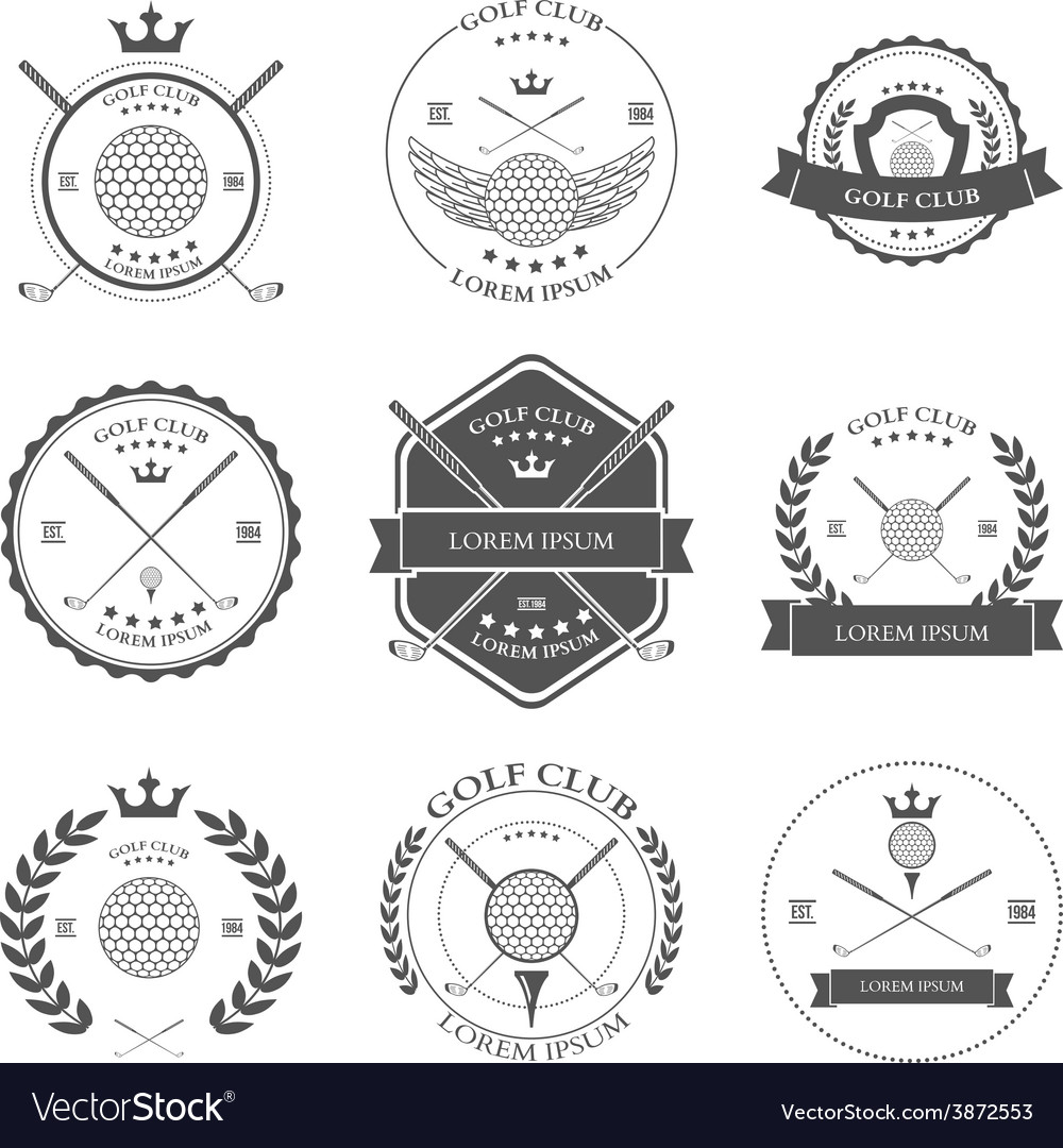 Golf labels and icons set vector | Price: 1 Credit (USD $1)