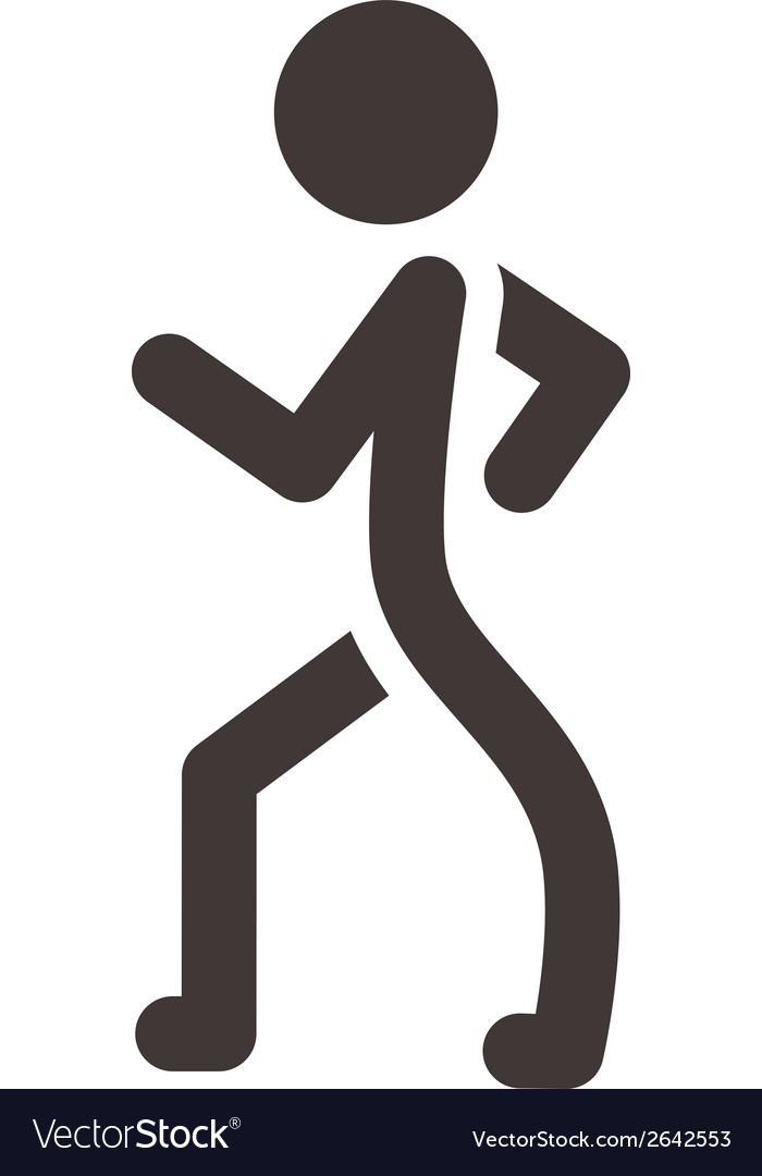 Heel and toe walk heel and toe walk vector | Price: 1 Credit (USD $1)