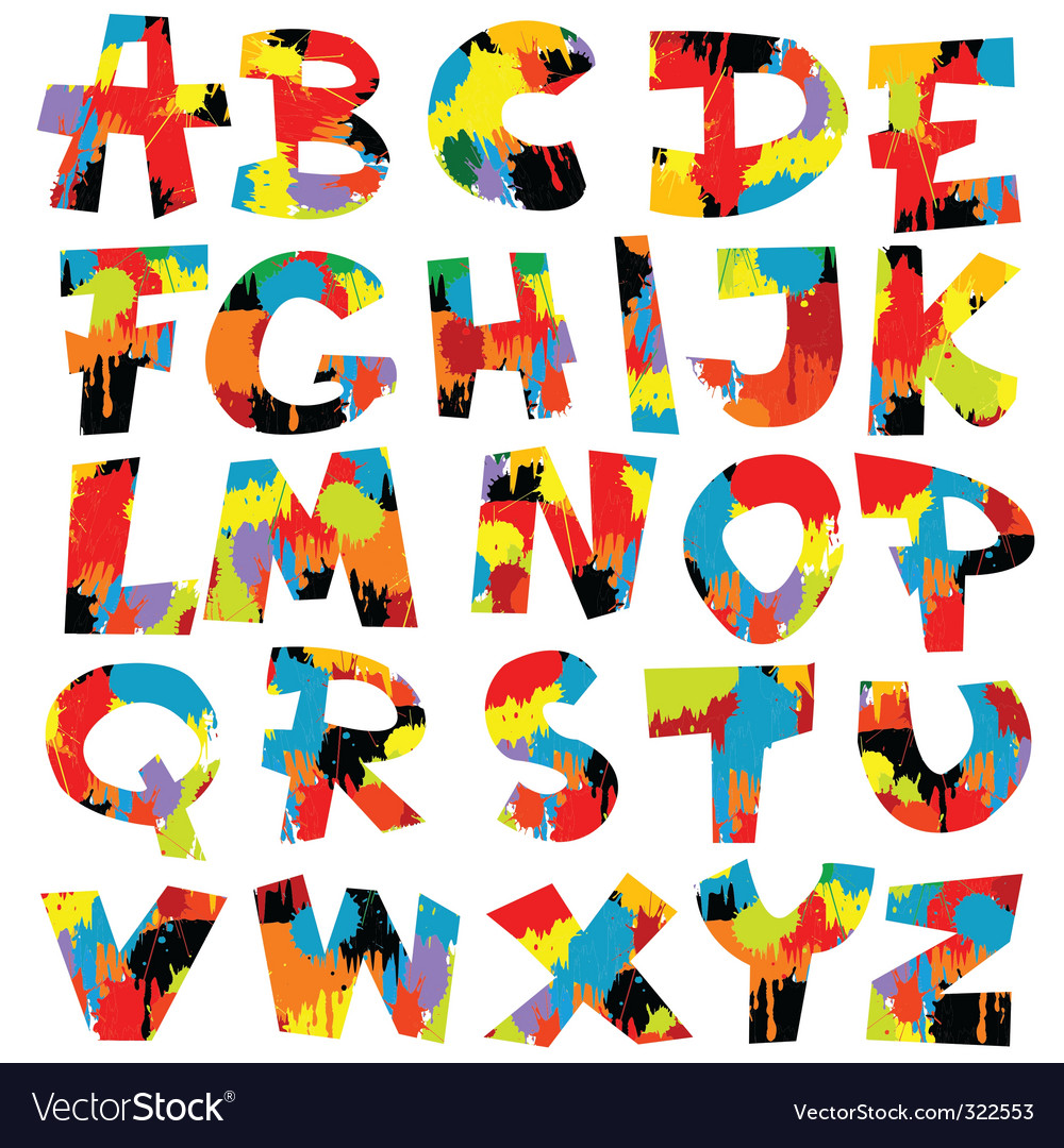 Letters of alphabet vector | Price: 1 Credit (USD $1)