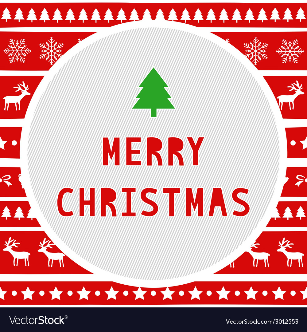 Merry christmas greeting card8 vector | Price: 1 Credit (USD $1)