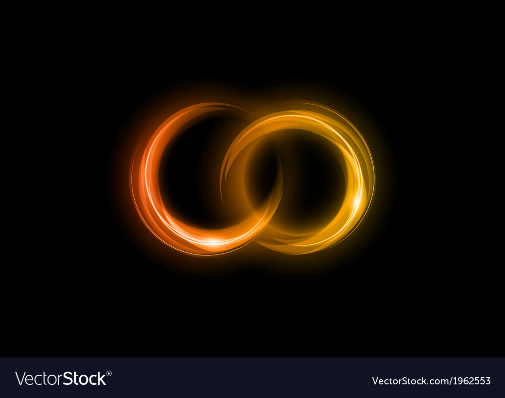 Neon light dark orange vector | Price: 1 Credit (USD $1)