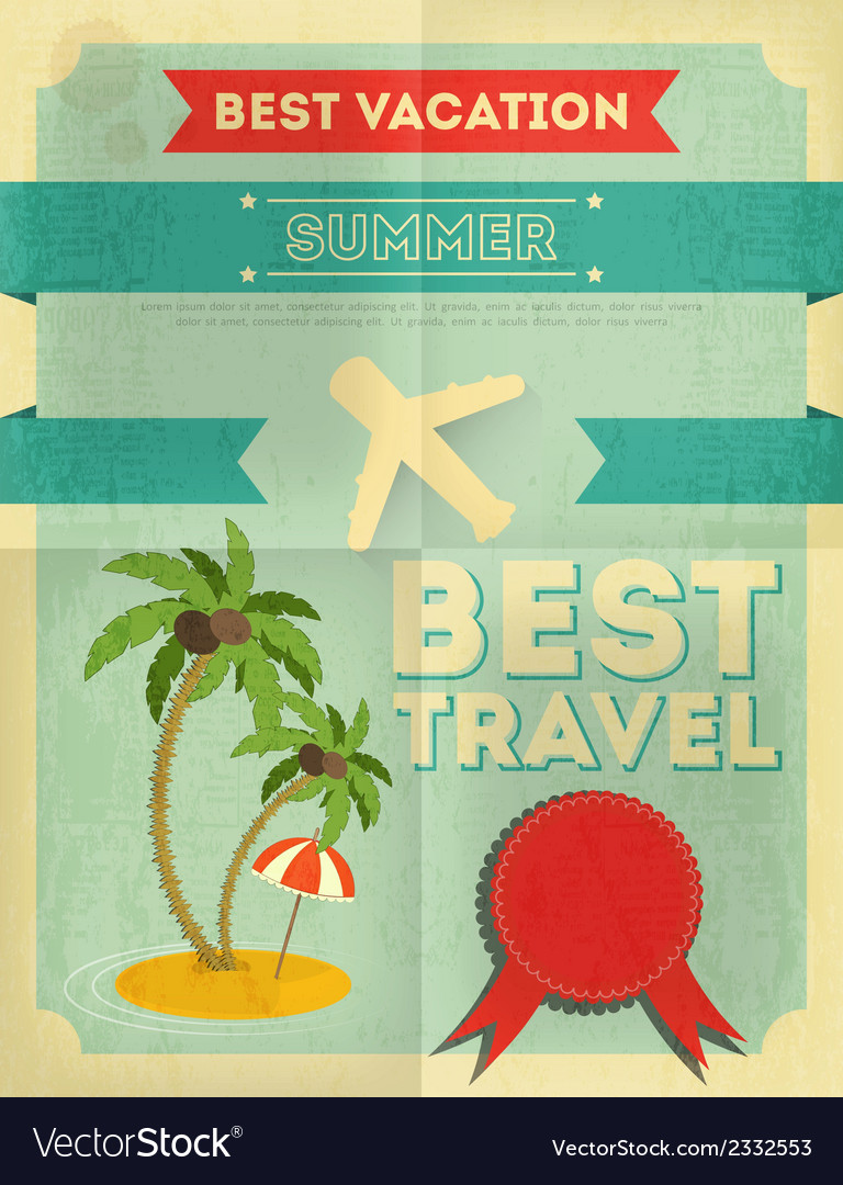 Travel poster vector | Price: 1 Credit (USD $1)