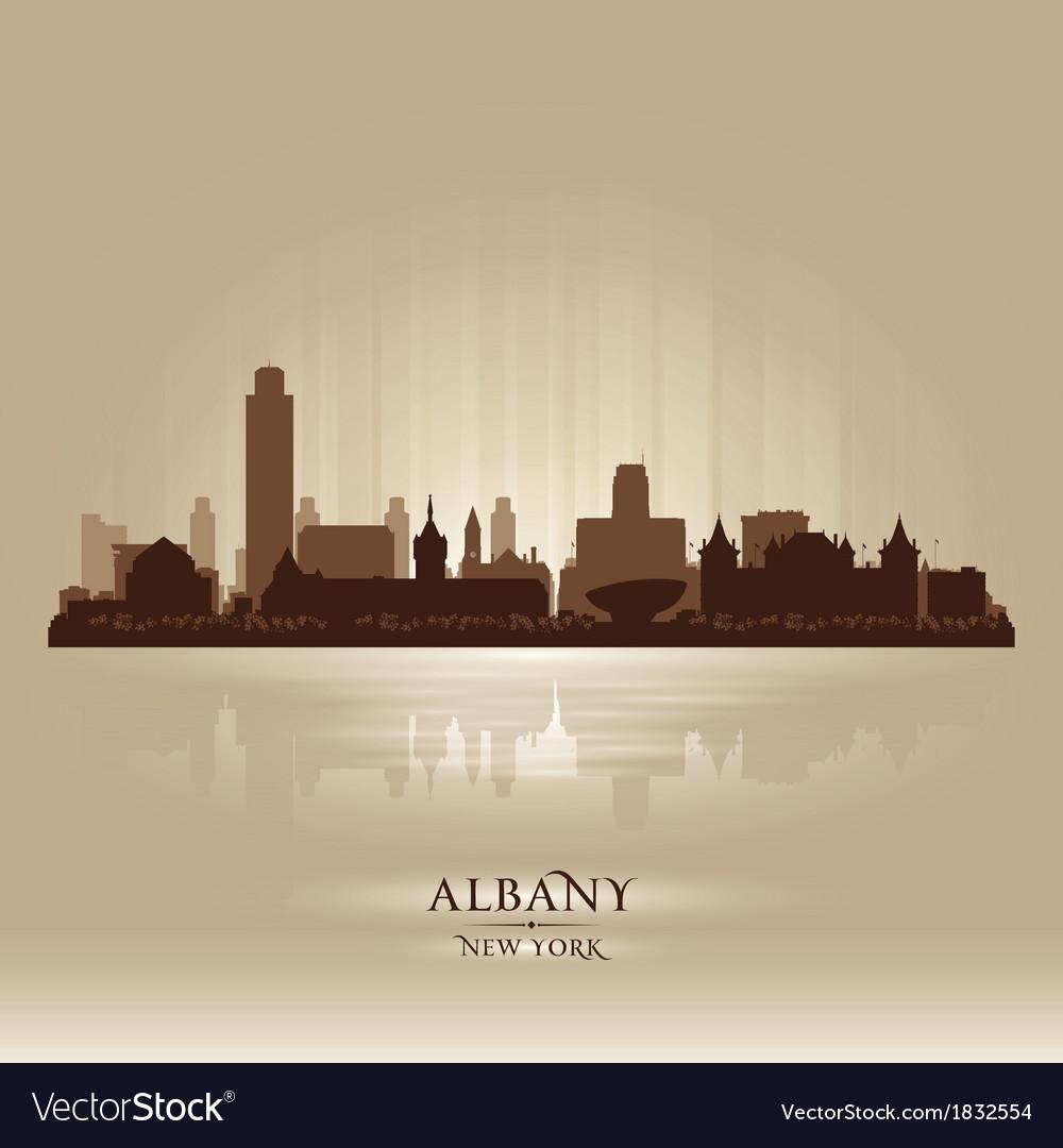 Albany new york city skyline silhouette vector | Price: 1 Credit (USD $1)