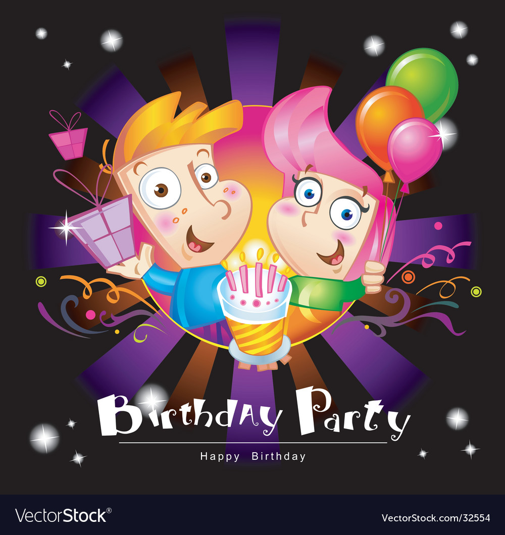 Birthday party vector | Price: 3 Credit (USD $3)