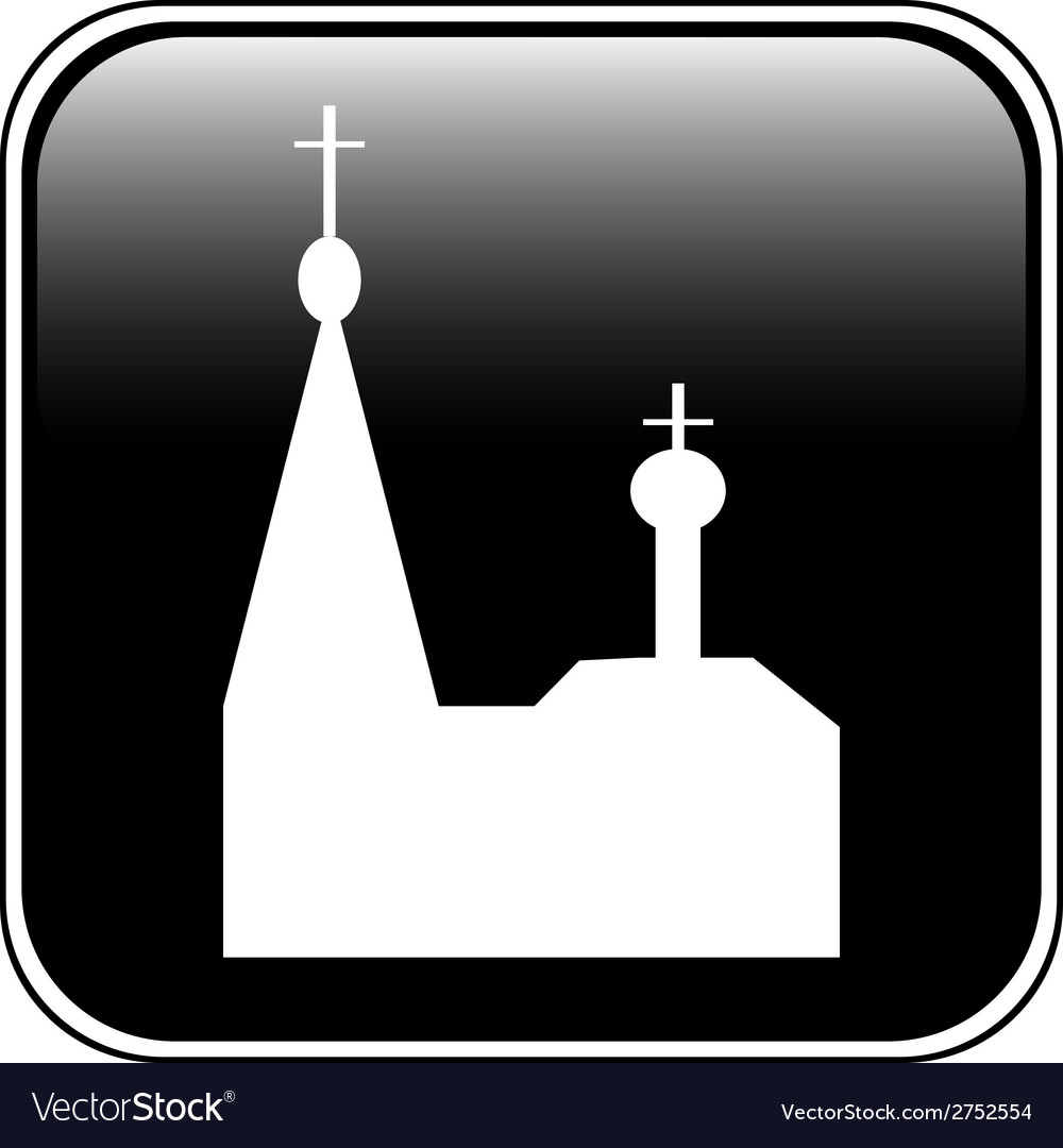Church button vector | Price: 1 Credit (USD $1)