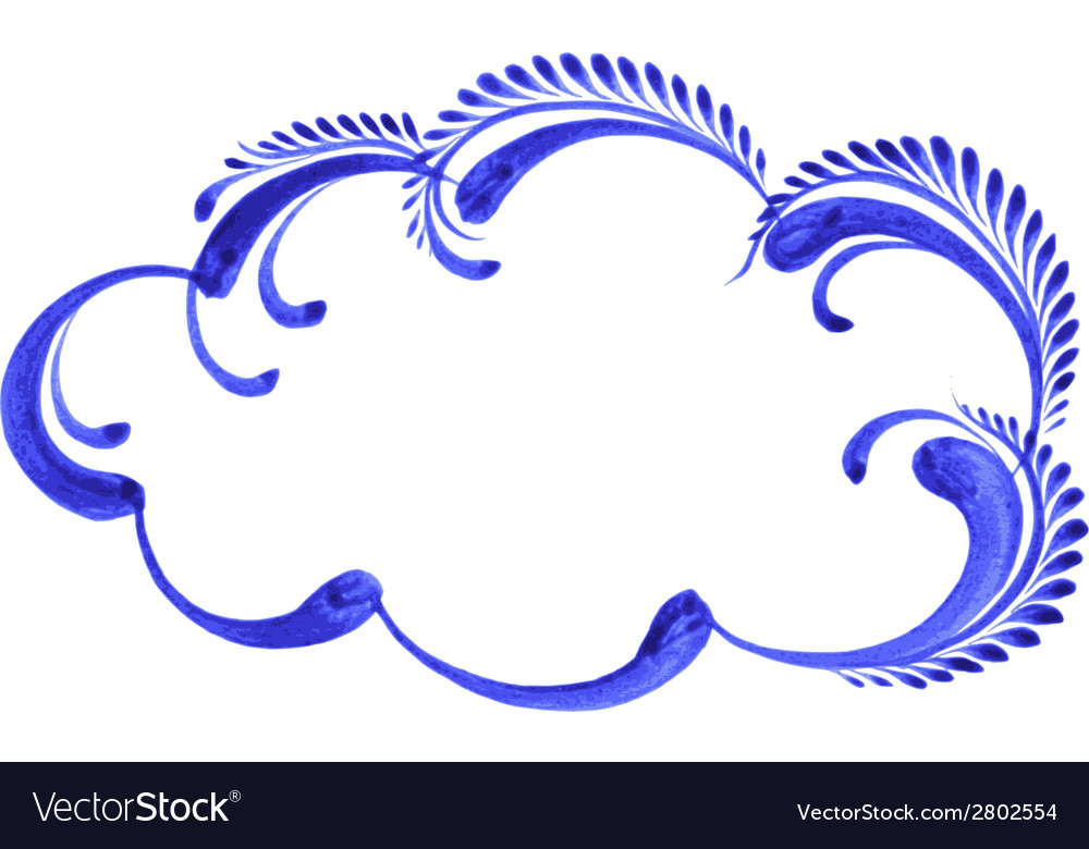 Decorative ornament cloud vector   Price: 1 Credit (USD $1)