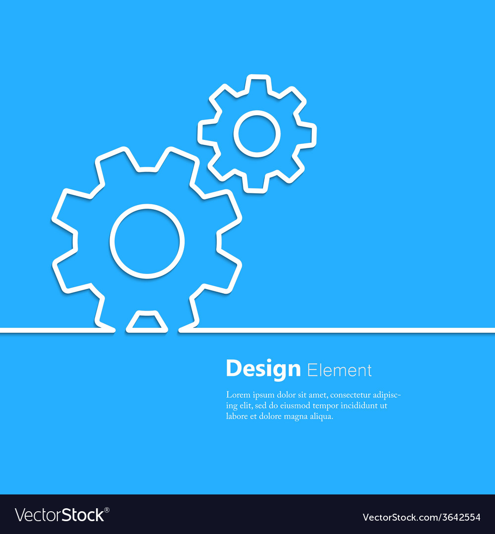 Gear design element vector | Price: 1 Credit (USD $1)