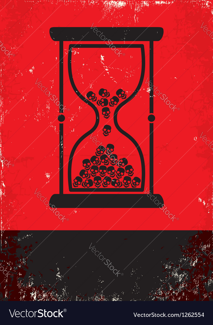 Hourglass with skulls vector | Price: 1 Credit (USD $1)
