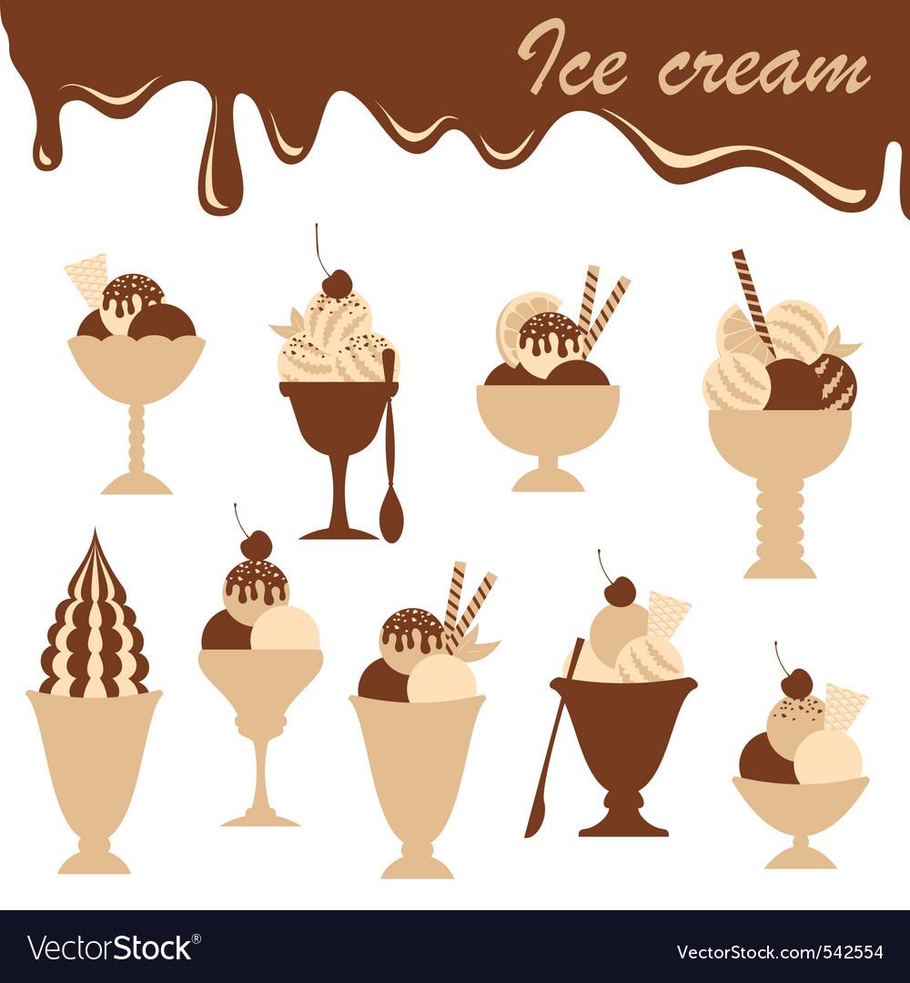 Icecreams mix vector | Price: 1 Credit (USD $1)