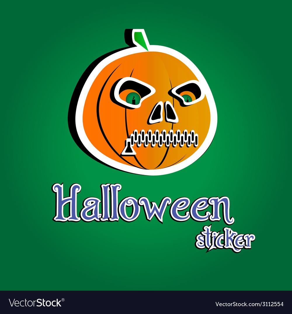 Pumpkin halloween vector | Price: 1 Credit (USD $1)