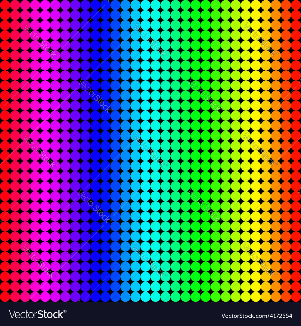 Rainbow background of colored circles vector | Price: 1 Credit (USD $1)
