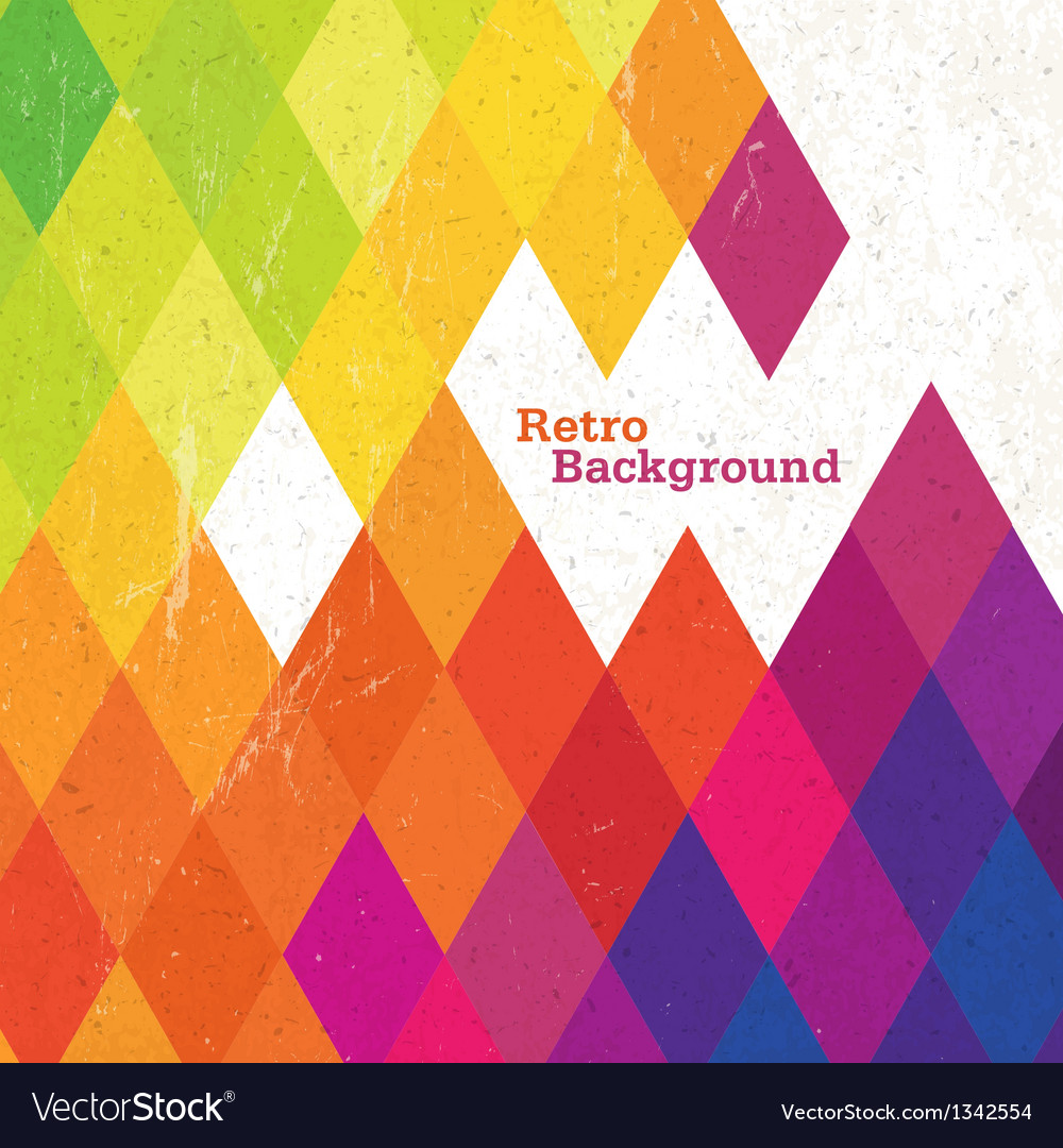 Retro rhombus background vector | Price: 1 Credit (USD $1)