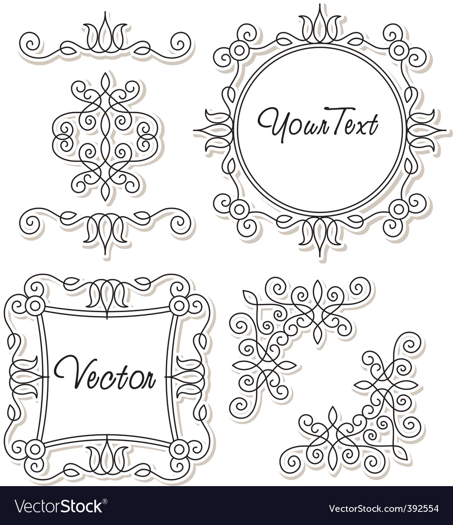Vintage frames and ornaments vector | Price: 1 Credit (USD $1)