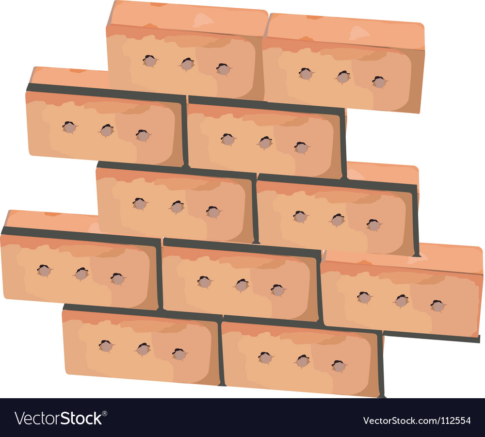 Wall from bricks vector | Price: 1 Credit (USD $1)