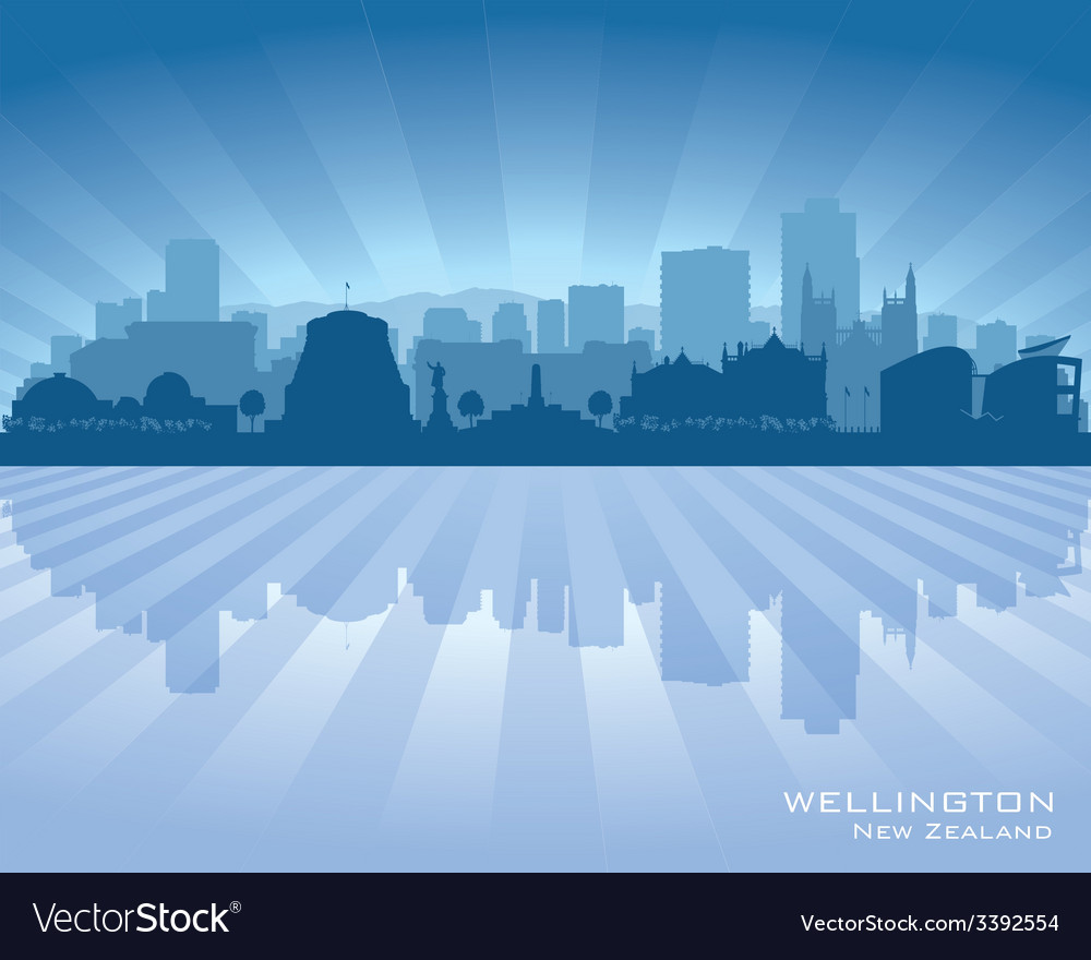 Wellington new zealand city skyline silhouette vector | Price: 1 Credit (USD $1)