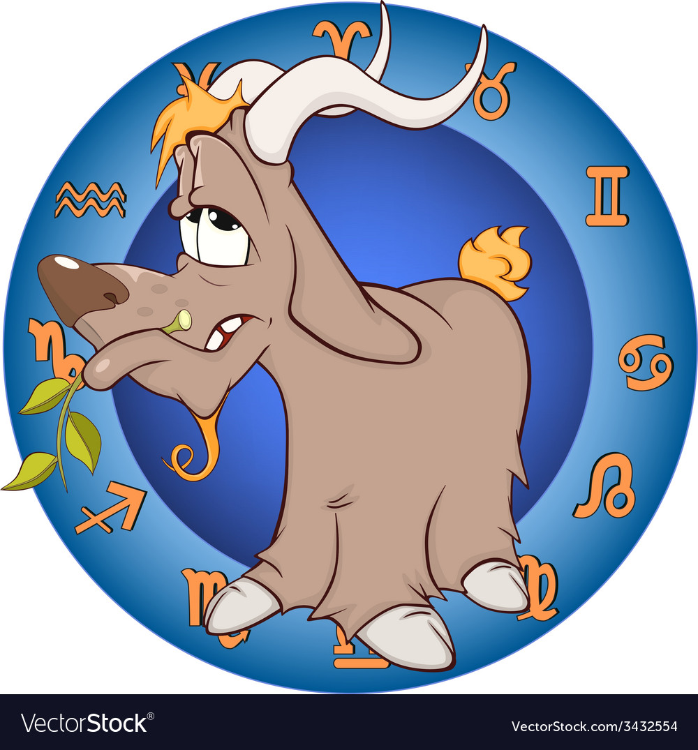 The year of the goat chinese horoscope cartoon vector | Price: 1 Credit (USD $1)