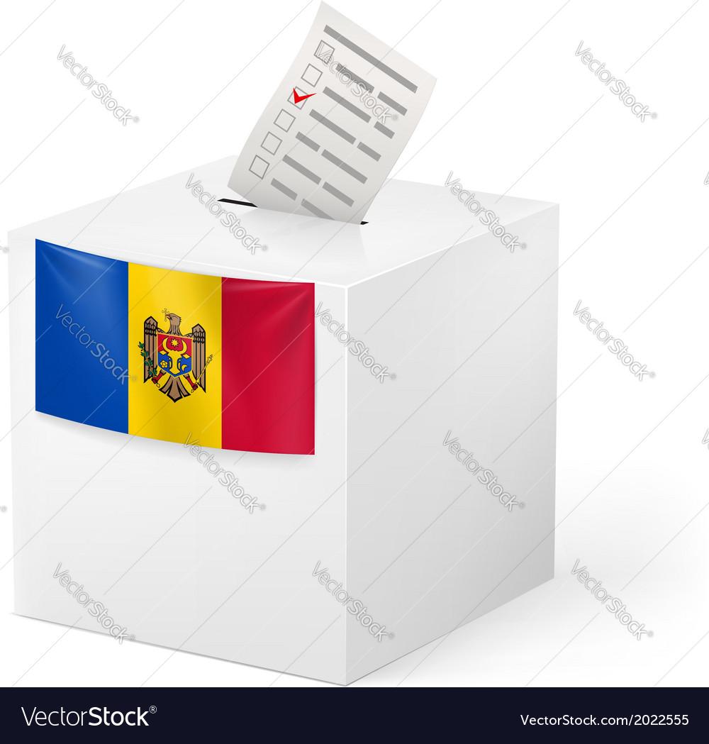 Ballot box with voting paper moldova vector | Price: 1 Credit (USD $1)