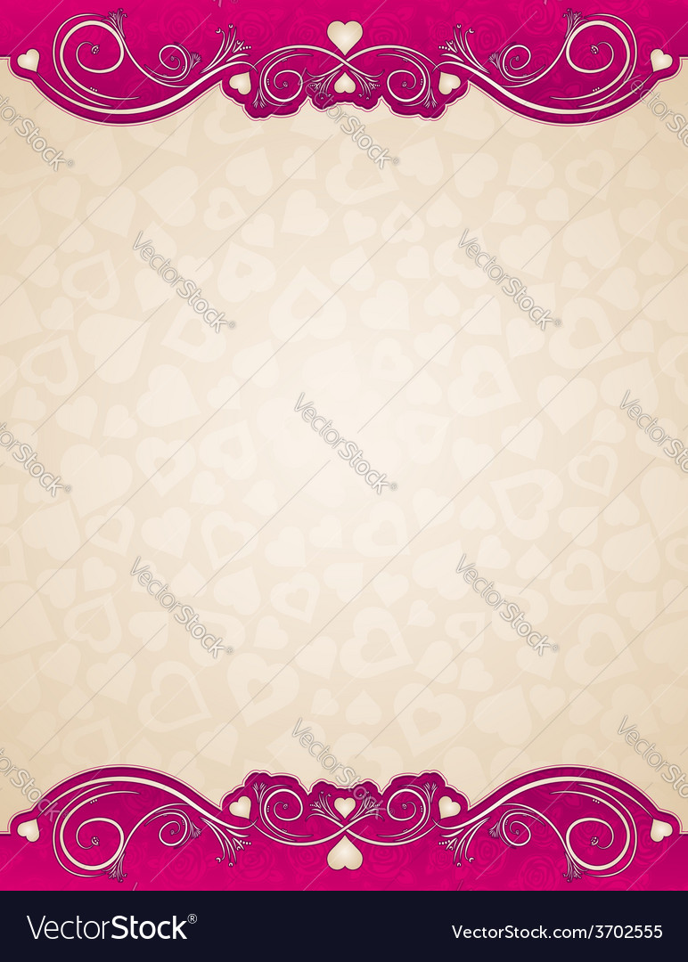Beige background with valentines hearts vector | Price: 1 Credit (USD $1)