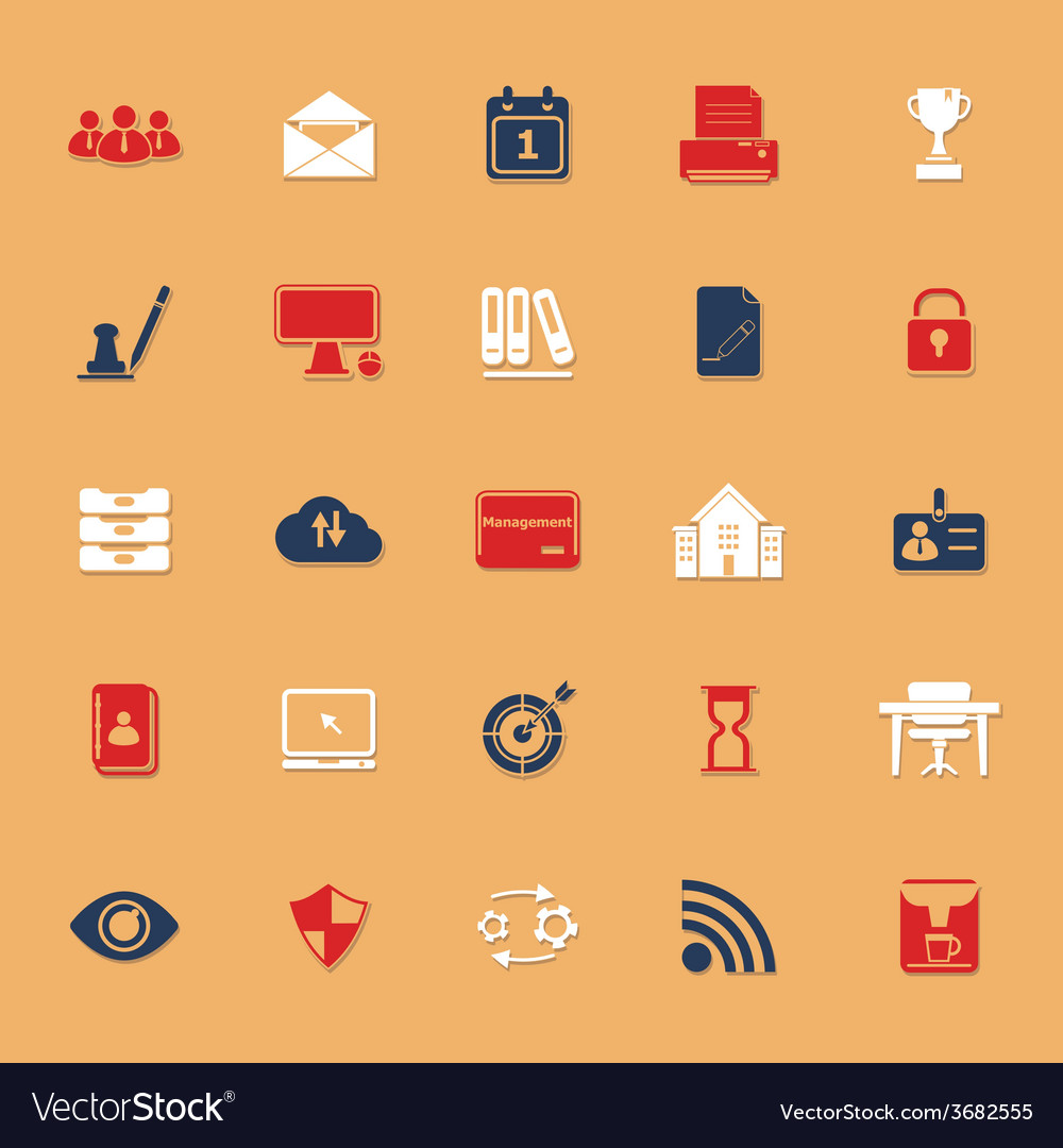 Business management classic color icons with vector | Price: 1 Credit (USD $1)
