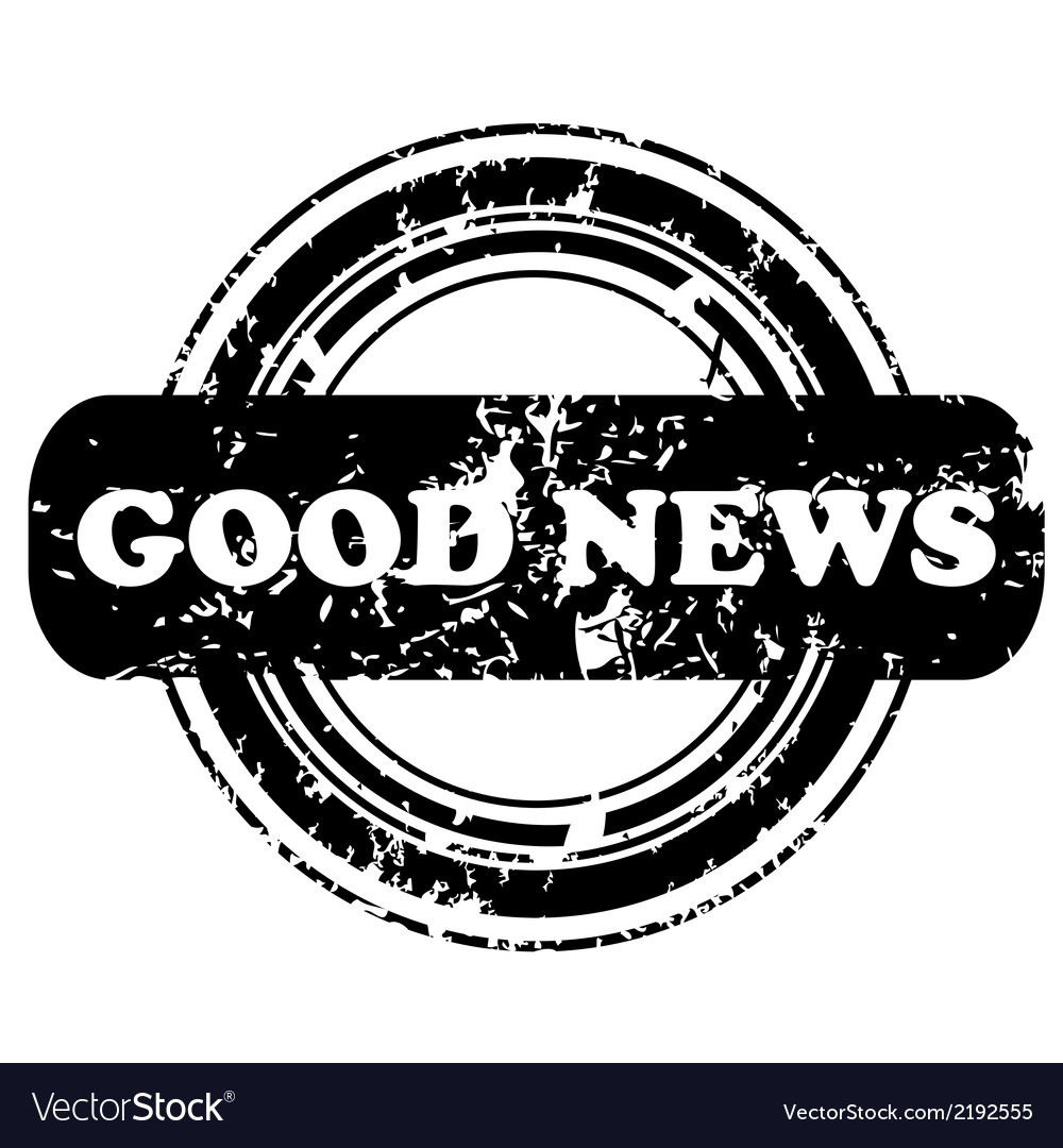 Good news stamp vector | Price: 1 Credit (USD $1)