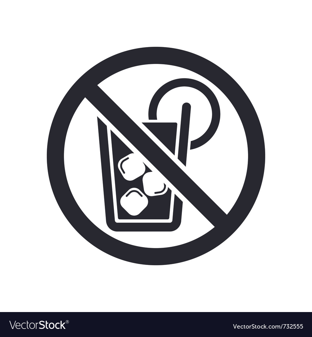 No drink icon vector | Price: 1 Credit (USD $1)