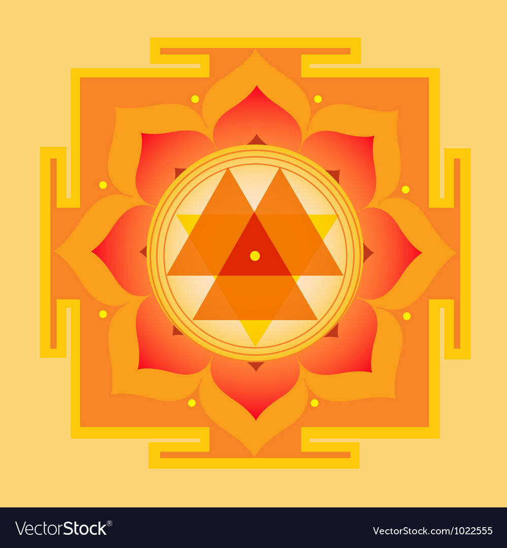 Sacred geometry durga yantra vector | Price: 1 Credit (USD $1)
