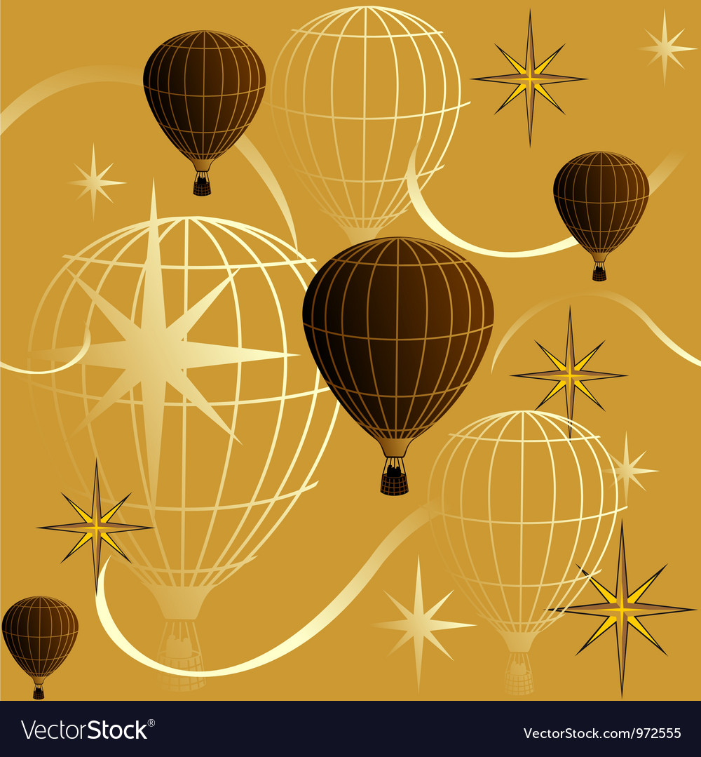 Seamless background journey in a balloon vector | Price: 1 Credit (USD $1)