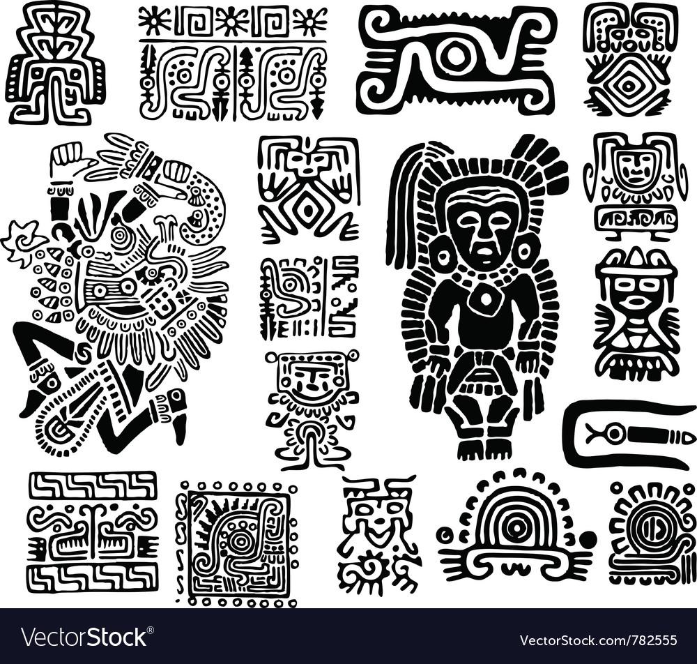 Set mexican symbols vector   Price: 1 Credit (USD $1)