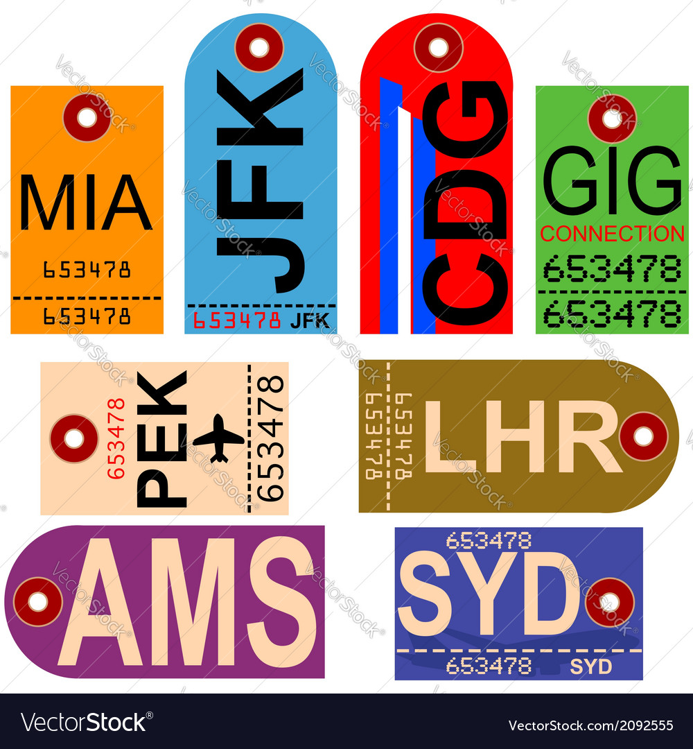 Vintage baggage tags vector | Price: 1 Credit (USD $1)