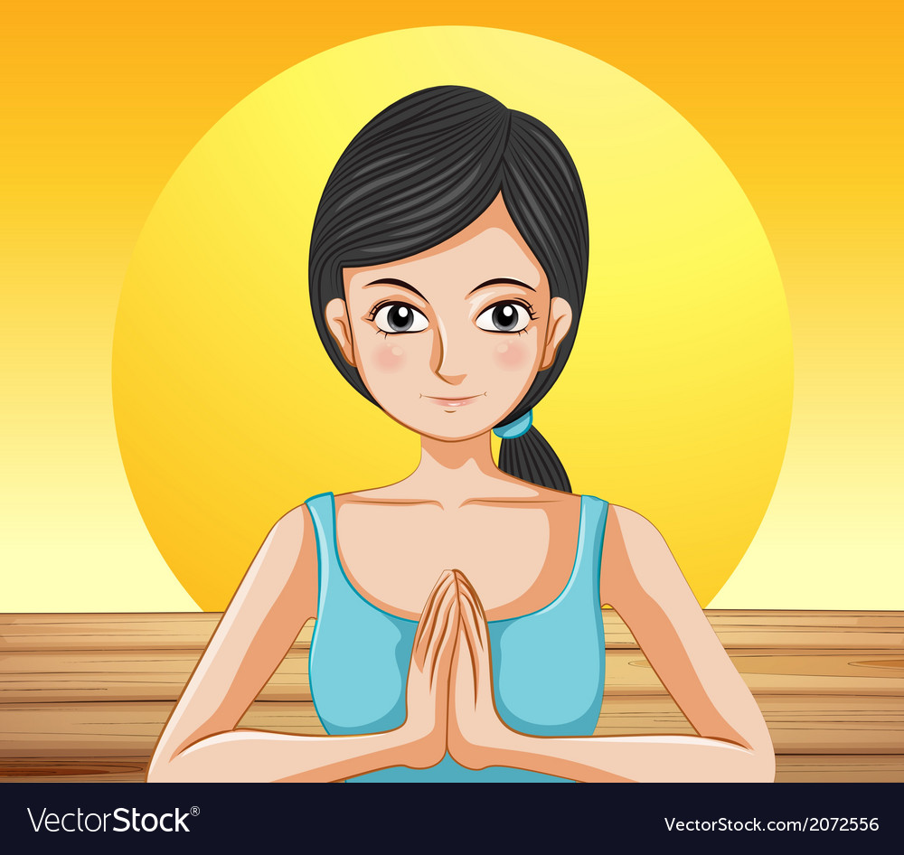 A pretty lady doing yoga vector | Price: 1 Credit (USD $1)