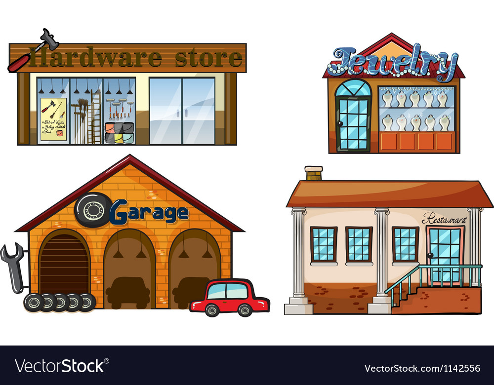 Big stores vector | Price: 1 Credit (USD $1)