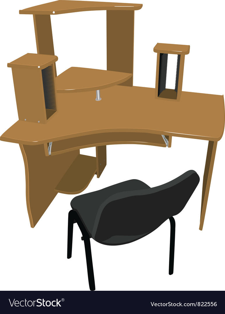 Chair and table for your computer vector | Price: 1 Credit (USD $1)