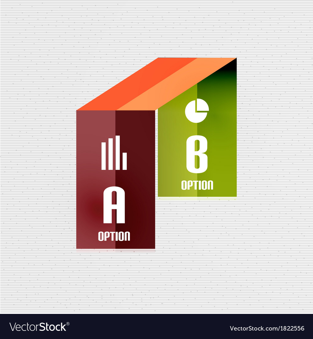 Colorful ribbon infographic - option banners vector | Price: 1 Credit (USD $1)