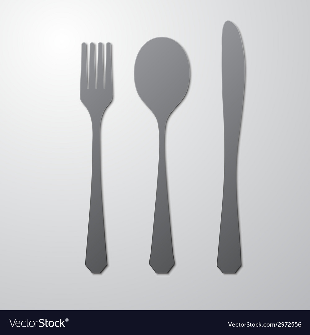 Cutlery gray vector | Price: 1 Credit (USD $1)