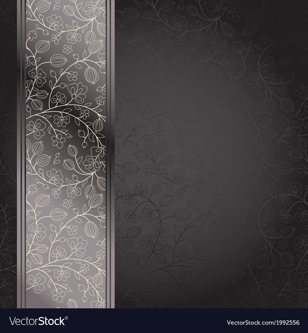 Dark backdrop floral ornament with gooseberry vector | Price: 1 Credit (USD $1)