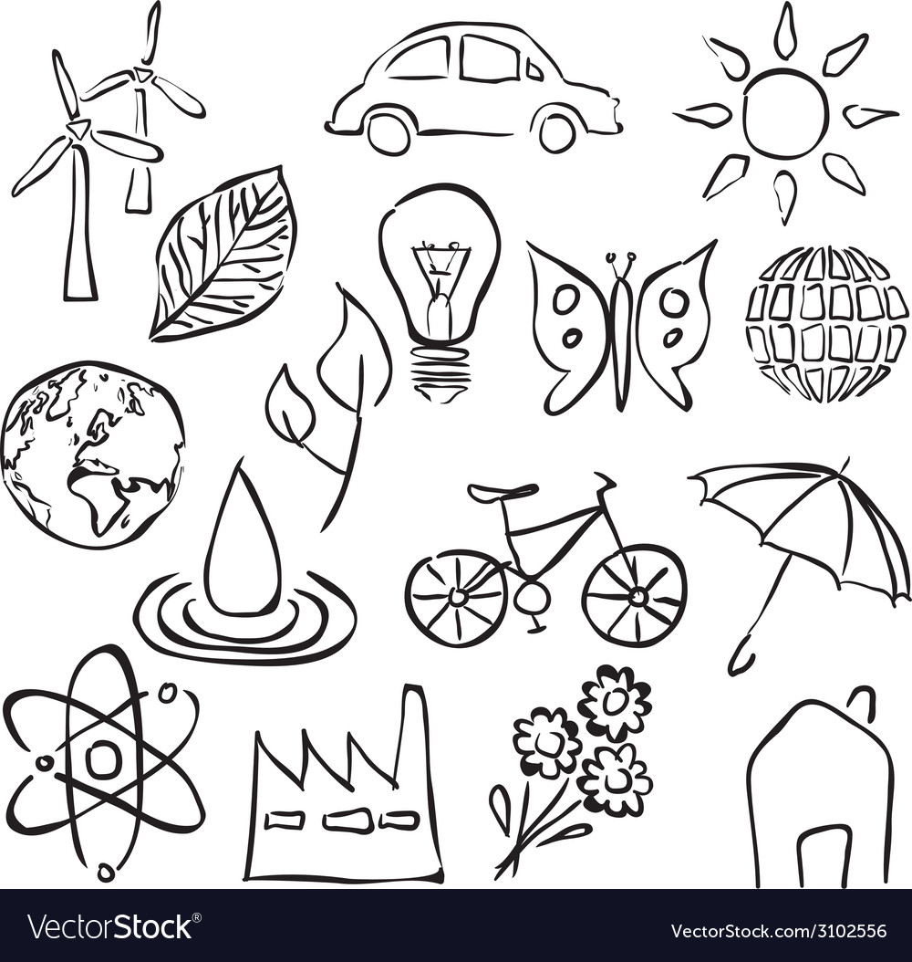 Environment sketch images vector | Price: 1 Credit (USD $1)