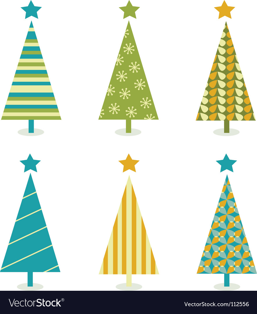 Funky retro christmas tree design vector | Price: 1 Credit (USD $1)