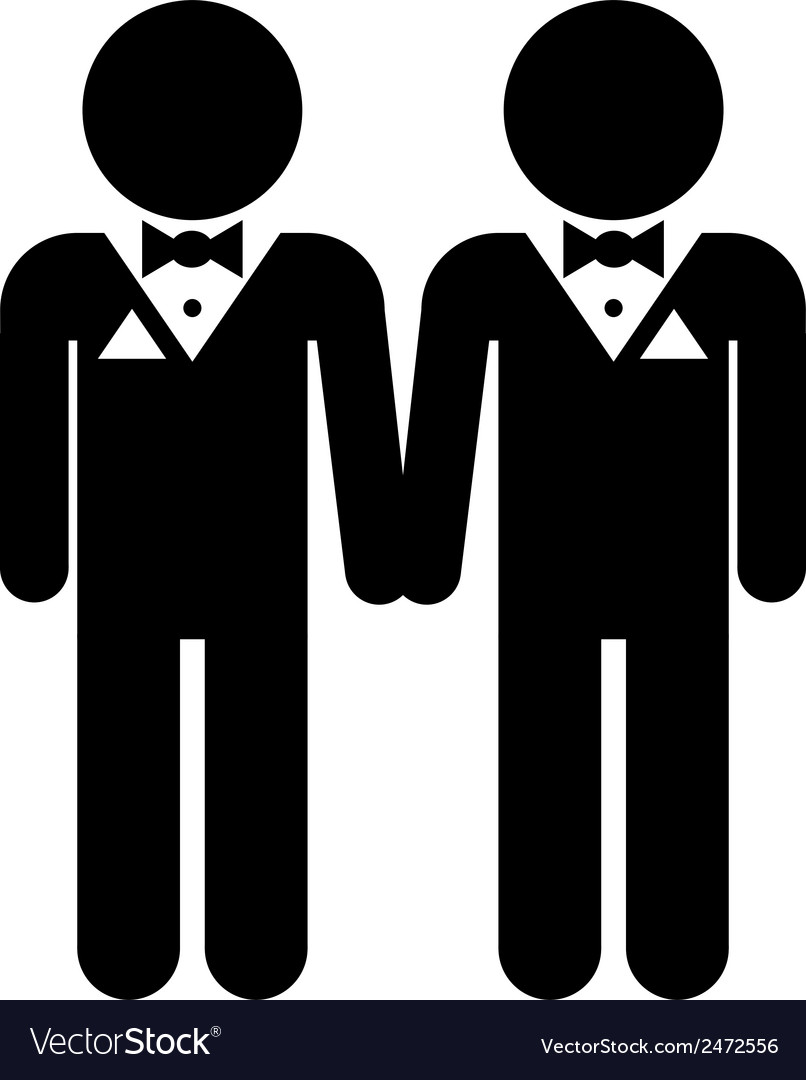 Gay marriage icon vector | Price: 1 Credit (USD $1)