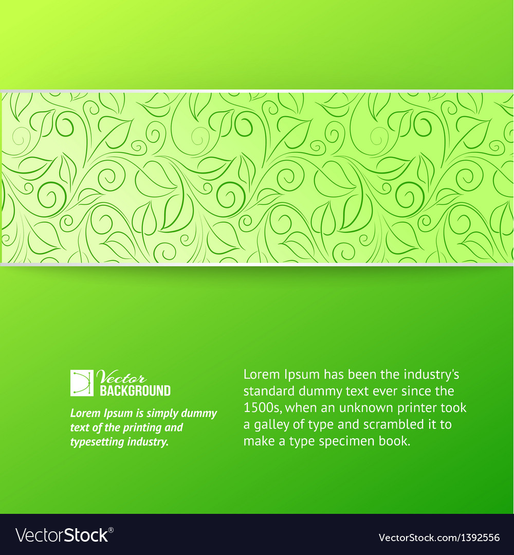 Green leaves cover vector | Price: 1 Credit (USD $1)