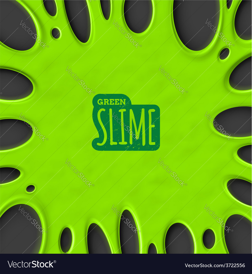 Green slime vector | Price: 1 Credit (USD $1)