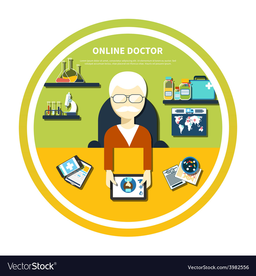 Online doctor concept vector | Price: 1 Credit (USD $1)