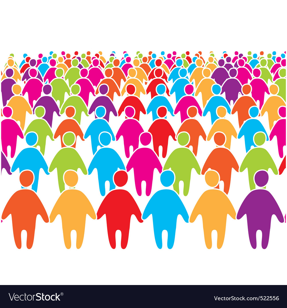 People group vector | Price: 1 Credit (USD $1)