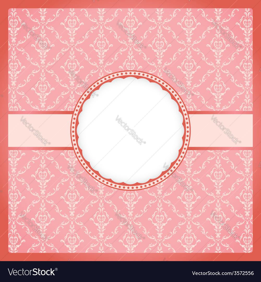 Pink round vintage frame vector | Price: 1 Credit (USD $1)